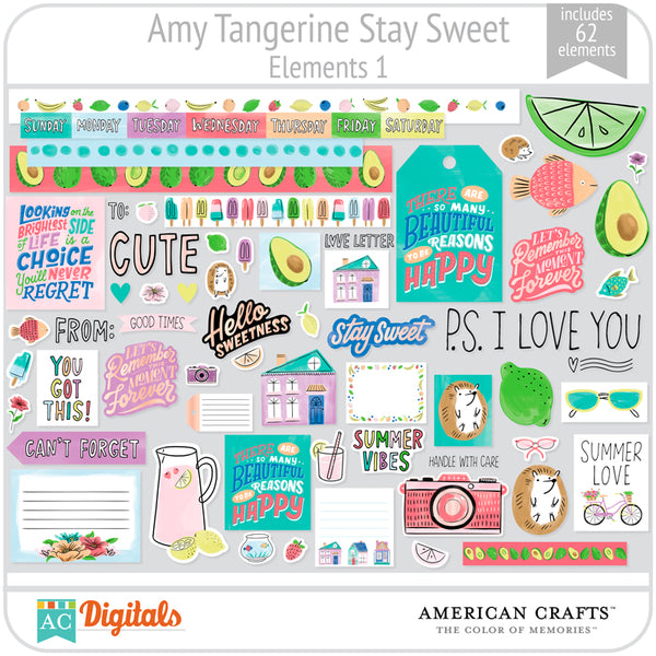 Amy Tangerine Stay Sweet Element Pack #1
