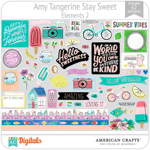Amy Tangerine Stay Sweet Element Pack #2