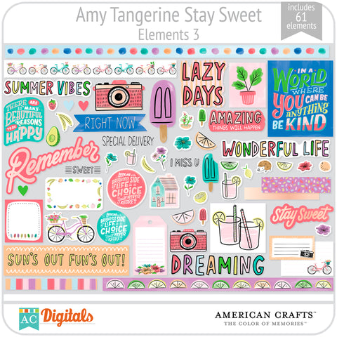 Amy Tangerine Stay Sweet Element Pack #3