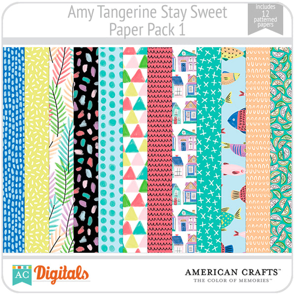 Amy Tangerine Stay Sweet Paper Pack #1