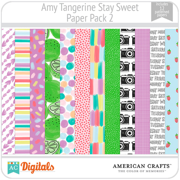 Amy Tangerine Stay Sweet Paper Pack #2