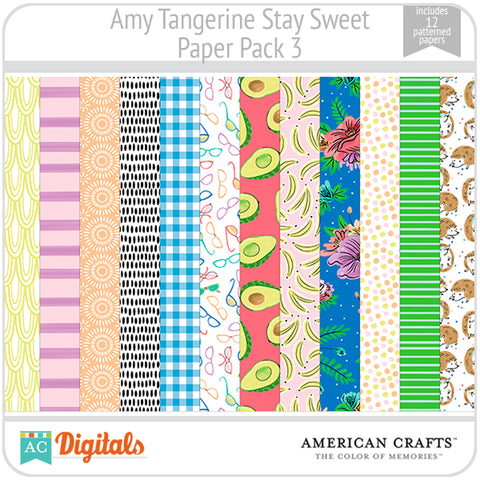 Amy Tangerine Stay Sweet Paper Pack #3