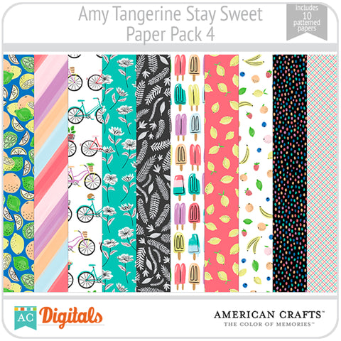 Amy Tangerine Stay Sweet Paper Pack #4