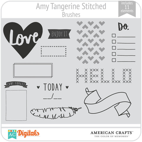 Amy Tangerine Stitched Brushes
