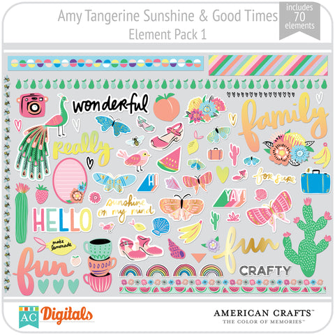 Amy Tangerine Sunshine & Good Times Element Pack 1