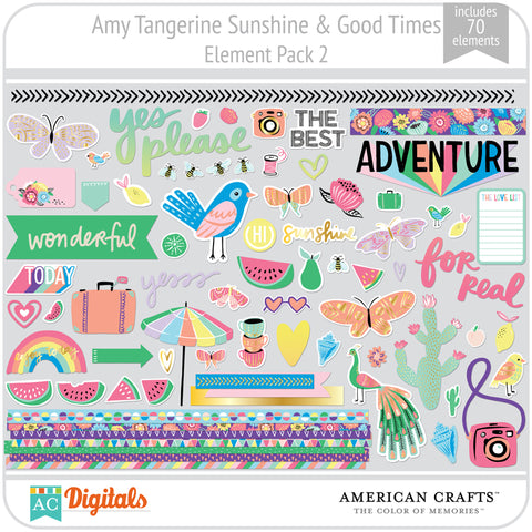 Amy Tangerine Sunshine & Good Times Element Pack 2