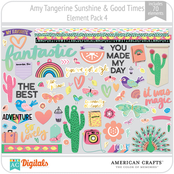 Amy Tangerine Sunshine & Good Times Element Pack 4
