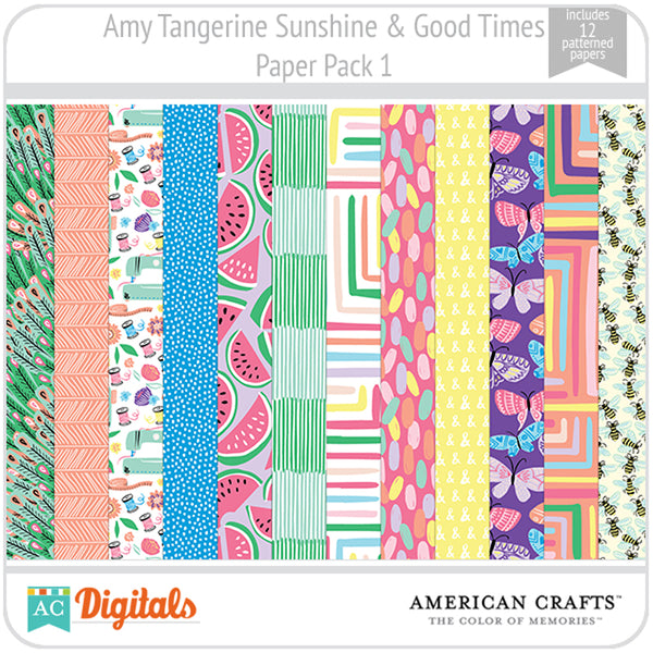 Amy Tangerine Sunshine & Good Times Paper Pack 1