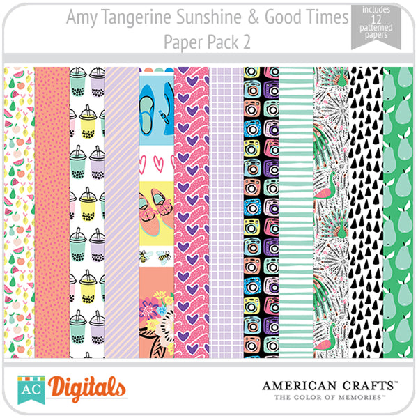 Amy Tangerine Sunshine & Good Times Paper Pack 2