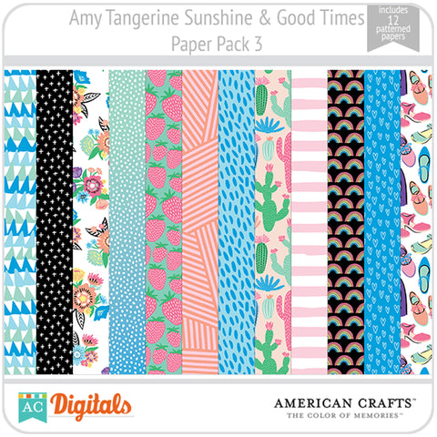 Amy Tangerine Sunshine & Good Times Paper Pack 3