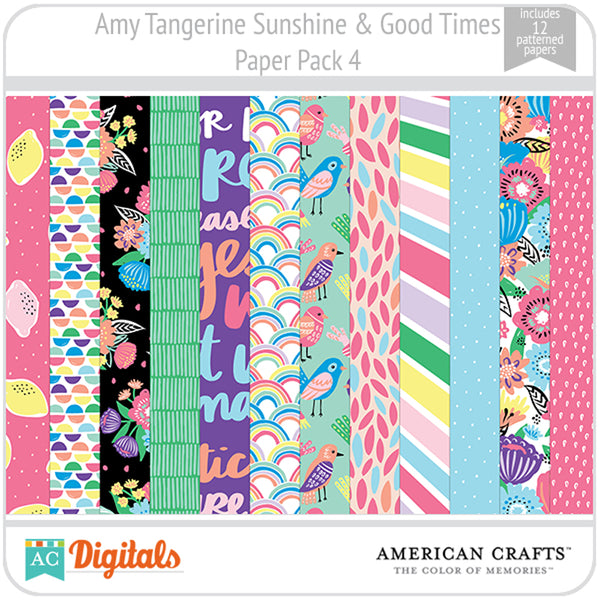 Amy Tangerine Sunshine & Good Times Paper Pack 4