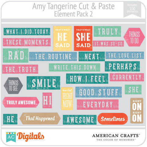 Amy Tangerine Cut & Paste Element Pack 2