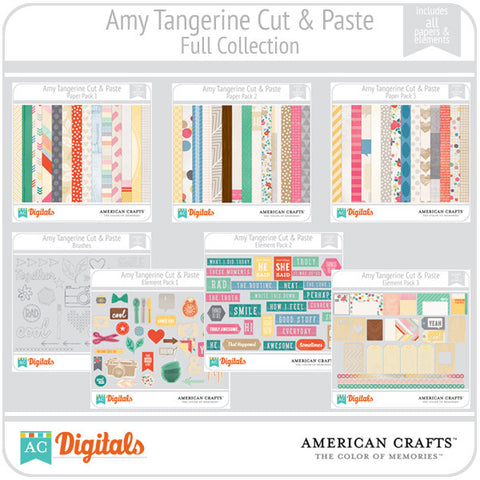 Amy Tangerine Cut & Paste Full Collection