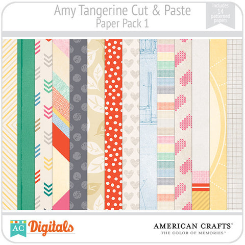 Amy Tangerine Cut & Paste Paper Pack 1