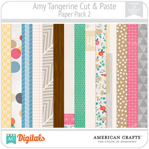 Amy Tangerine Cut & Paste Paper Pack 2