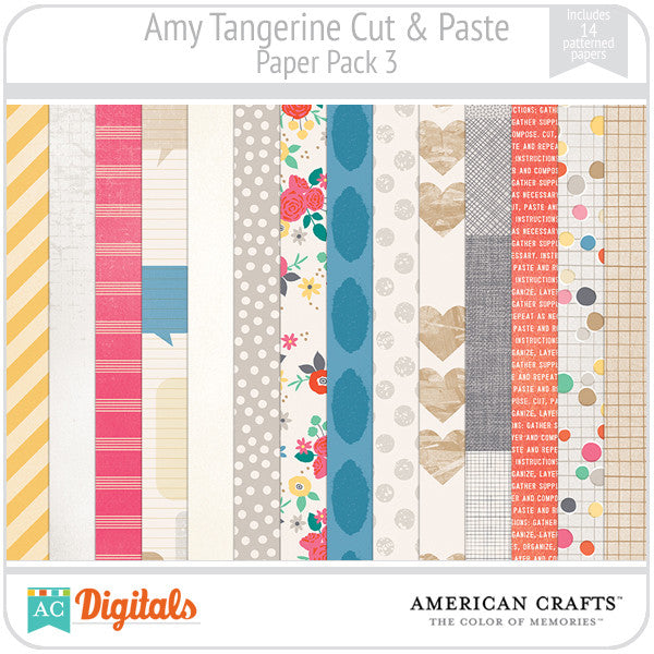Amy Tangerine Cut & Paste Paper Pack 3