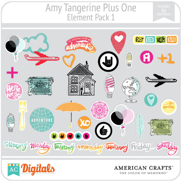 Amy Tangerine Plus One Element Pack 1