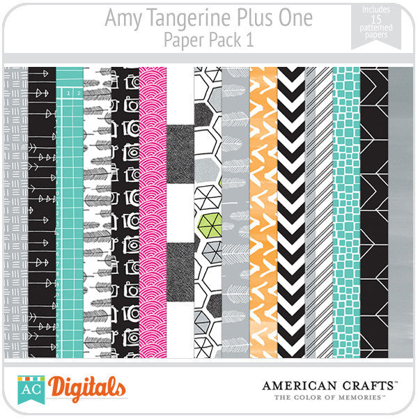 Amy Tangerine Plus One Paper Pack 1