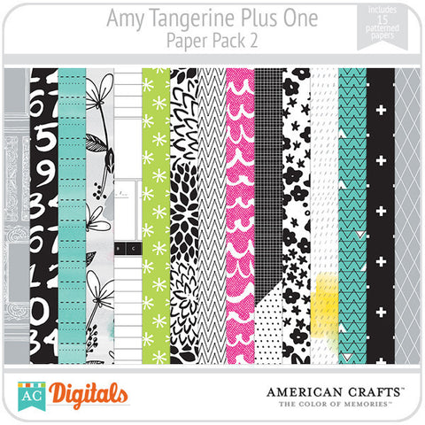 Amy Tangerine Plus One Paper Pack 2