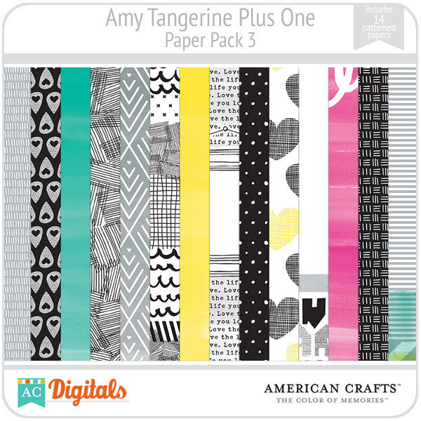 Amy Tangerine Plus One Paper Pack 3