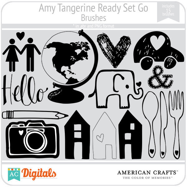 Amy Tangerine Ready, Set, Go Brush Set