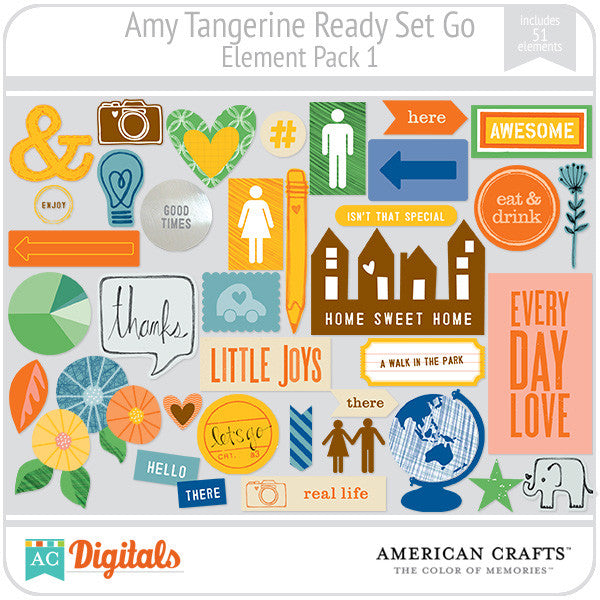 Amy Tangerine Ready, Set, Go Element Pack #1