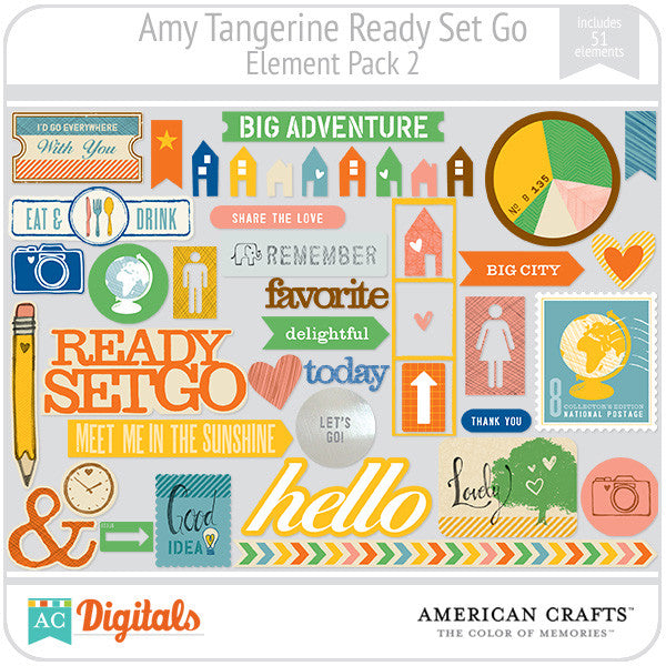 Amy Tangerine Ready, Set, Go Element Pack #2