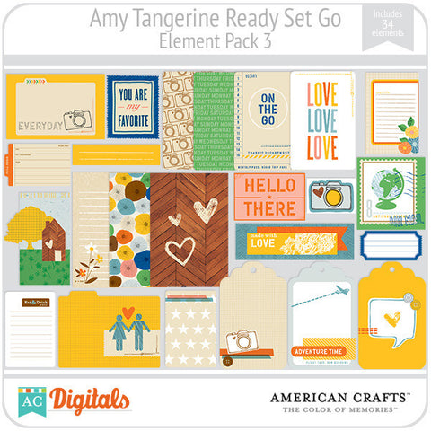 Amy Tangerine Ready, Set, Go Element Pack #3