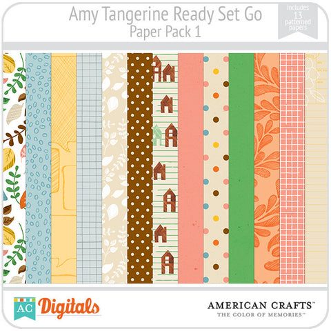 Amy Tangerine Ready, Set, Go Paper Pack #1