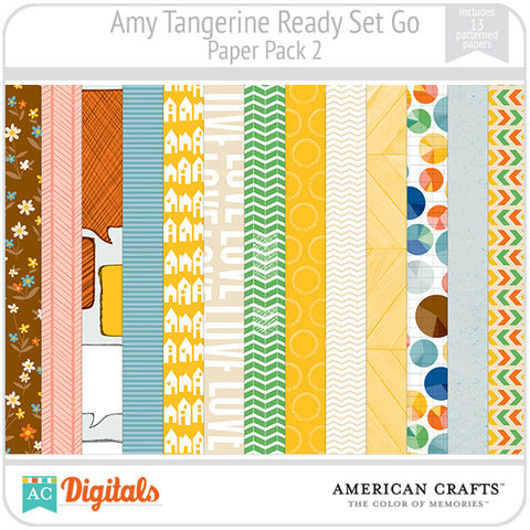Amy Tangerine Ready, Set, Go Paper Pack #2