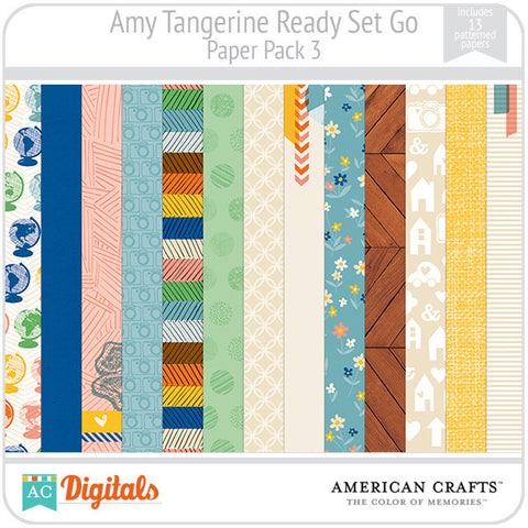Amy Tangerine Ready, Set, Go Paper Pack #3