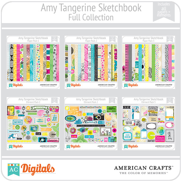 Amy Tangerine Sketchbook Full Collection
