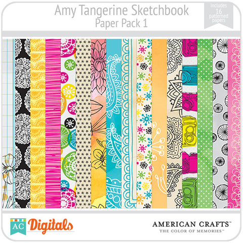 Amy Tangerine Sketchbook Paper Pack #1