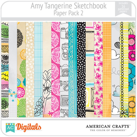 Amy Tangerine Sketchbook Paper Pack #2
