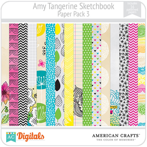 Amy Tangerine Sketchbook Paper Pack #3
