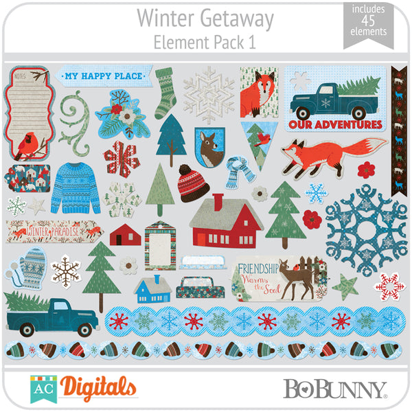 Winter Getaway Element Pack 1
