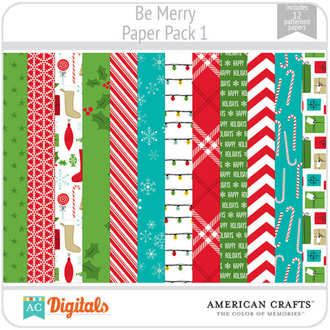 Be Merry Paper Pack 1