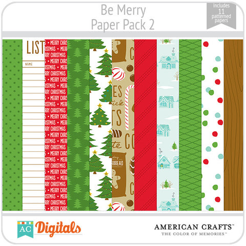 Be Merry Paper Pack 2