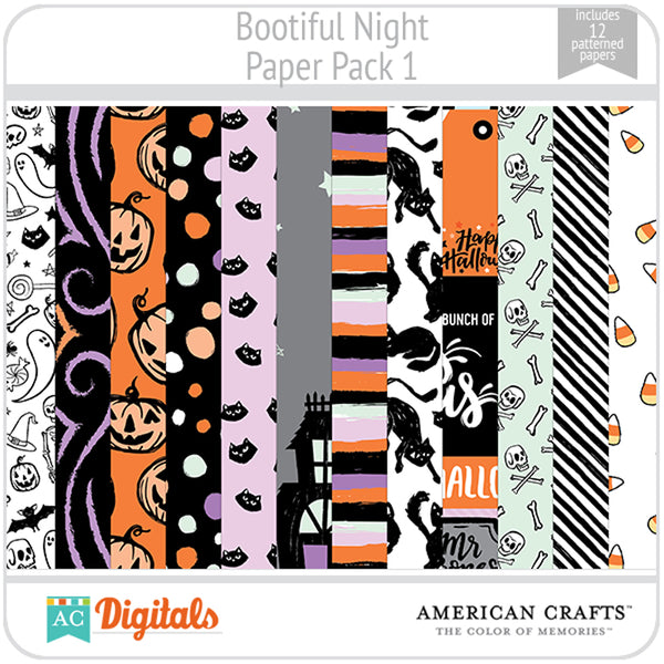 BOOtiful Night Paper Pack 1