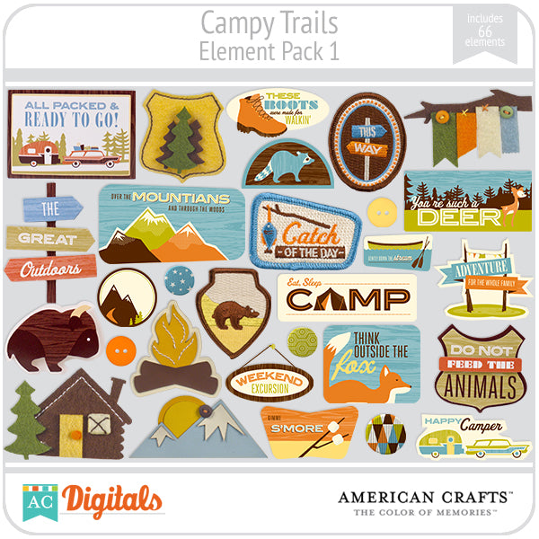 Campy Trails Element Pack #1