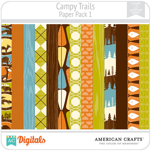 Campy Trails Paper Pack #1