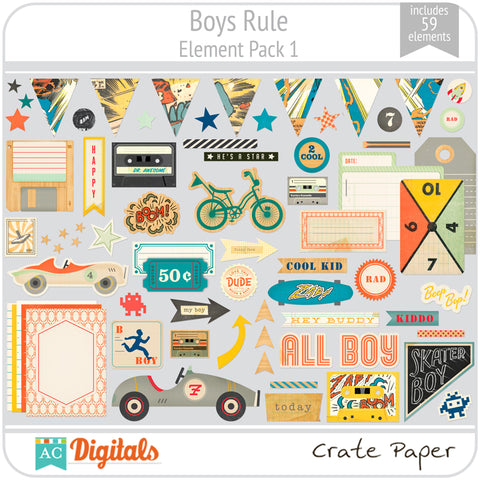 Boys Rule Element Pack 1
