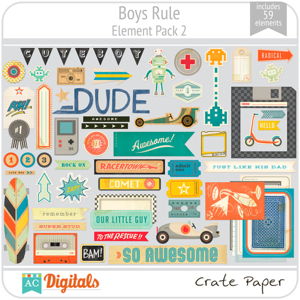 Boys Rule Element Pack 2
