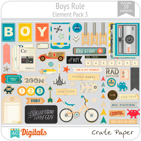 Boys Rule Element Pack 3
