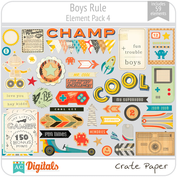 Boys Rule Element Pack 4