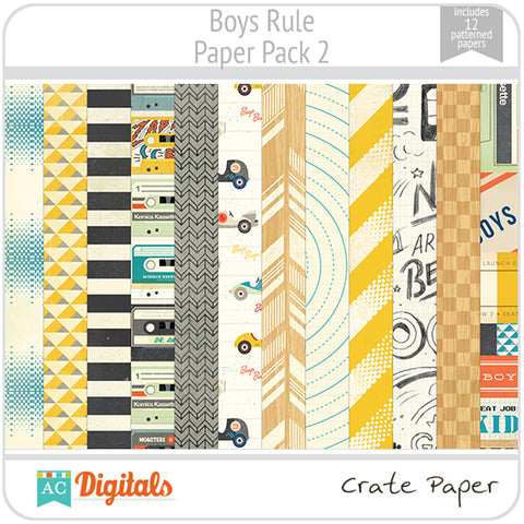 Boys Rule Paper Pack 2
