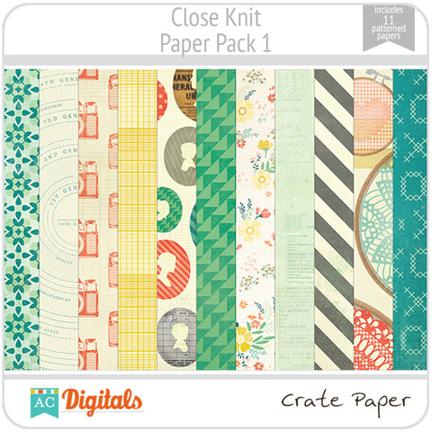 Close Knit Paper Pack 1