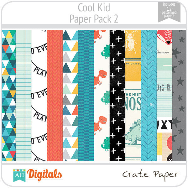 Cool Kid Paper Pack 2