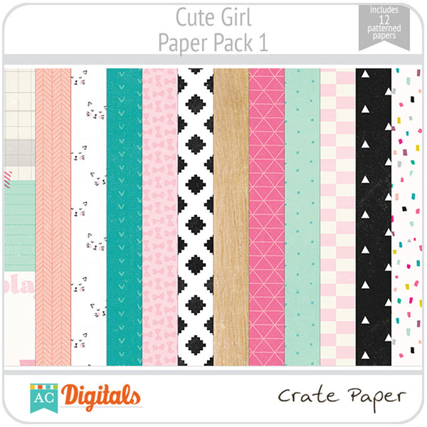 Cute Girl Paper Pack 1