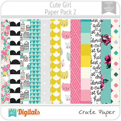 Cute Girl Paper Pack 2